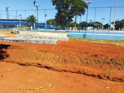 Construção da Quadra de esportes de Areia